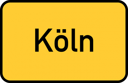 cologne köln town sign