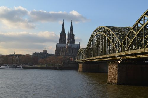 cologne panorama hohenzollern bridge cologne cathedral