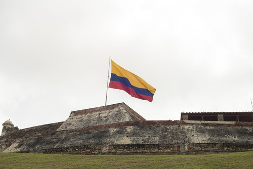 colombia  flag  strong