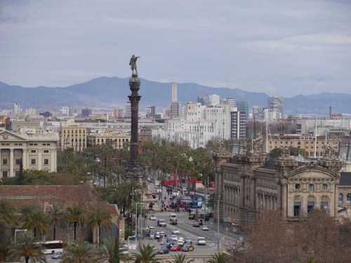 colon barcelona city view