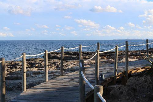 colonia sant jordi mallorca boardwalk