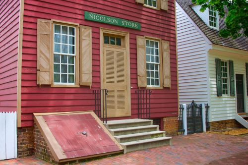 Colonial Storefront In Williamsburg
