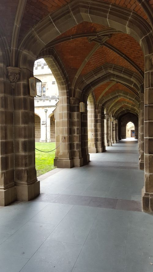 colonnade stone arches university