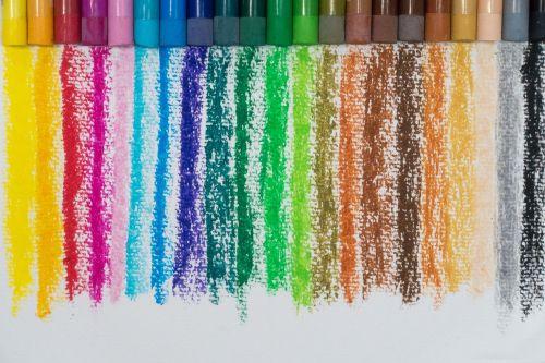 color oil pastels colorful