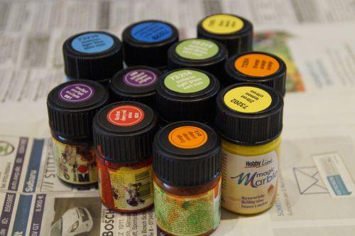 color marbling color bottle