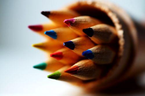 color coloured pencils macro photography