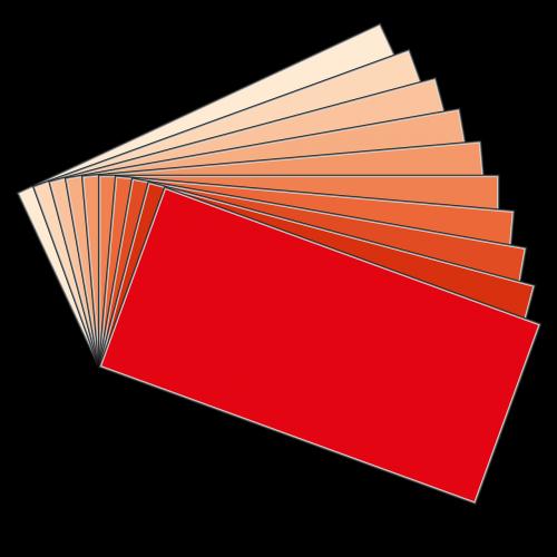 color red orange