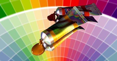 color  tube  art