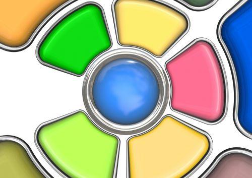 color color palette button