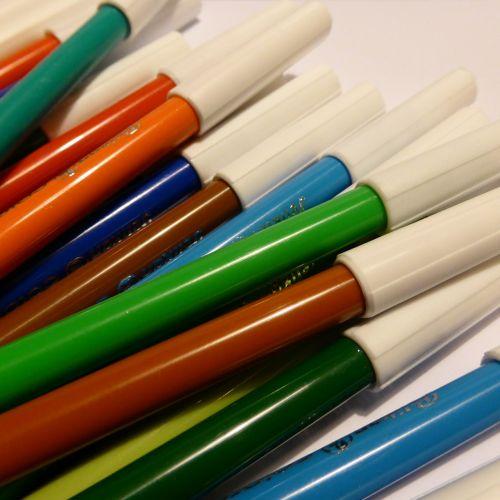 color felt tip pens colorful