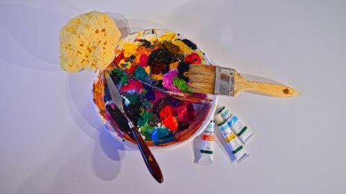 color colorful acrylic paint