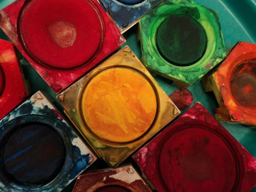 color paint boxes tusche indian ink
