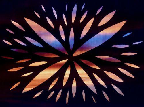 color beam silhouette art