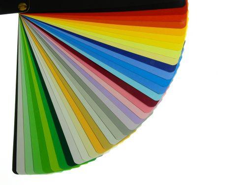 color fan color card color