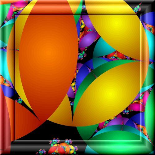 spalva, fraktalai, 3d, stiklas, rėmas, poveikis, figūra, geometrinis, spalvos fraktalai