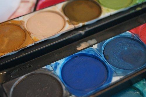 color paint box  malkasten  watercolor