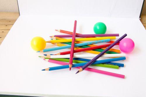 color pencil color balls ball