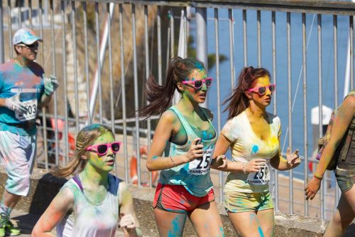 color run rainbow run running