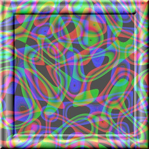 spalva, formos, 3d, stiklas, rėmas, poveikis, spalvų formos