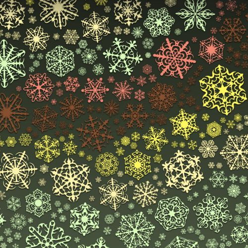 Color Snowflakes 1