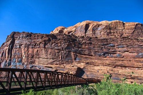 colorado riverway footbridge  colorado  river