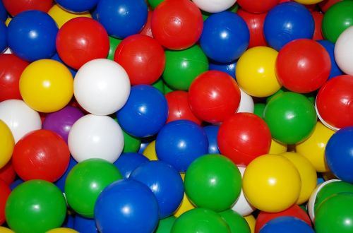 colored balls balls play ground