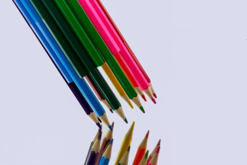 colored pencil multi coloured paint