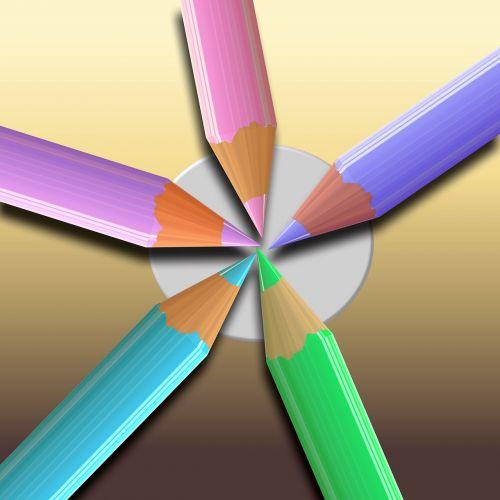 colored pencils paint color