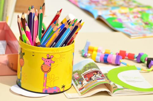 colored pencils pen box paint
