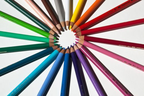 colored pencils colour pencils star