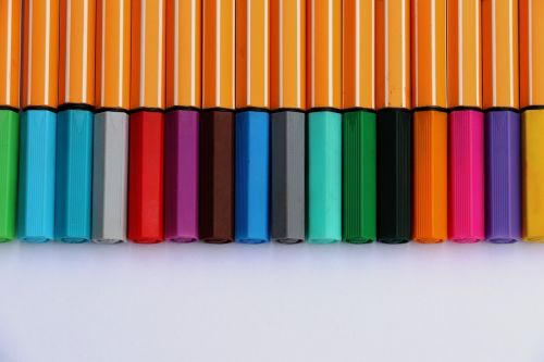 colored pencils colorful paint
