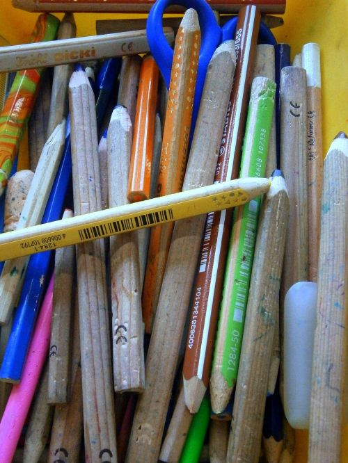colored pencils colour pencils mess