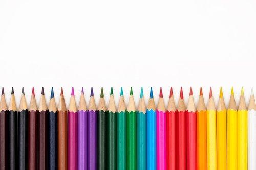 colored pencils  pens  crayons