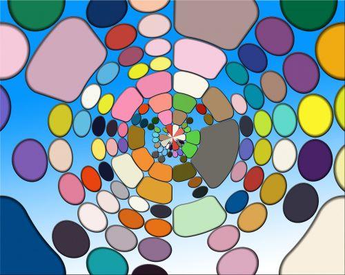 colorful color arrangement