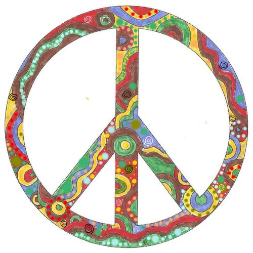 colorful peace hope