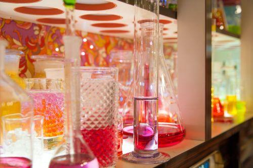colorful glasses vase