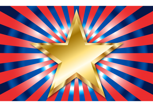 colorful star gold