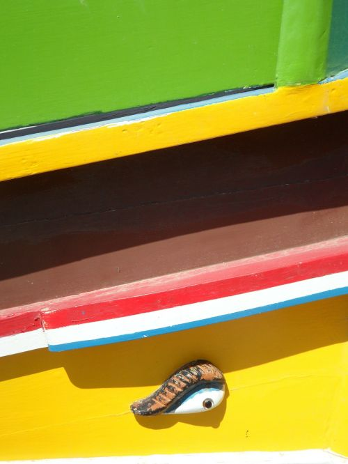 colorful wooden boat fishing boat