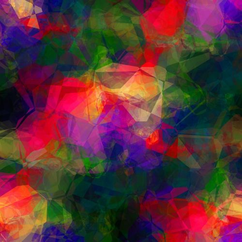 colorful abstract polygon