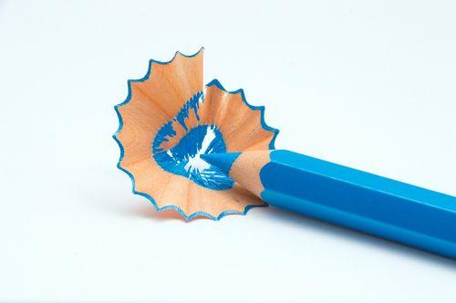 colorful pen blue