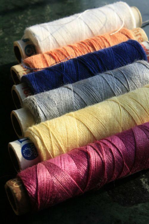 colorful bobbin reel