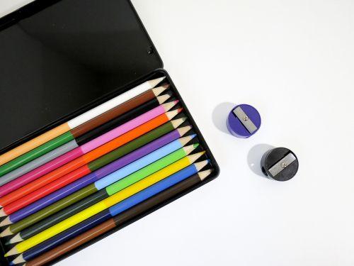 colorful colored pencils creativity