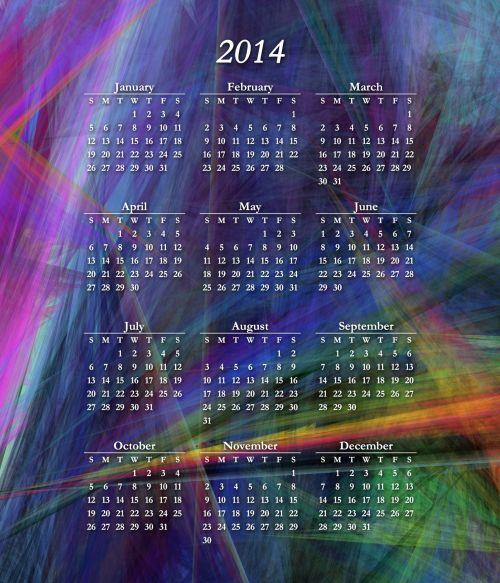 Colorful 2014 Calendar V2
