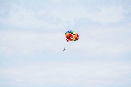 colorful parachute blue