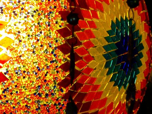 colorful mosaic glass