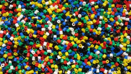 colorful plastic beads toys