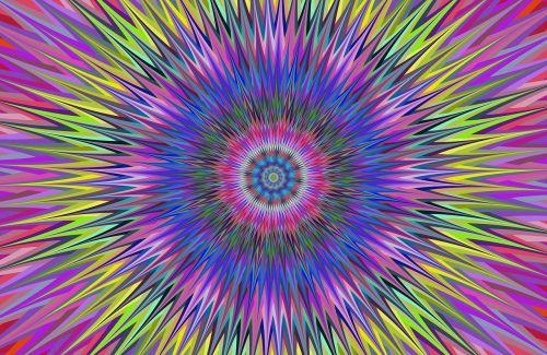 colorful vibrant star