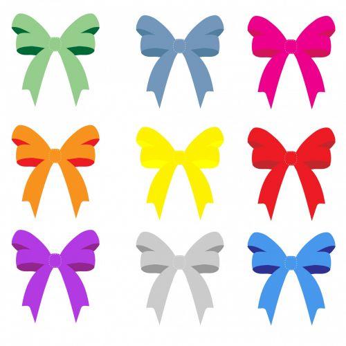 Colorful Bows & Ribbons
