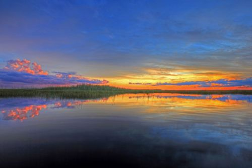 Colorful Clouds Over The Everglades