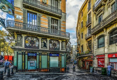 Colorful Corner In Barcelona
